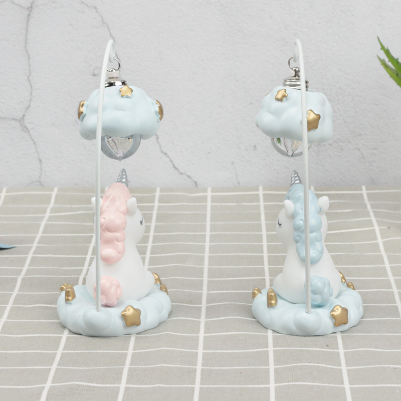 Cute Cartoon LED Night Light Home Decor Light Resin Unicorn Light Bedside Table Lamp For Baby Children Kids Girls Birthday Gift (5)