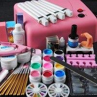 Manicure Set Of Tools Nail Set Kit UV Led Lamp 12PC UV Gel Nail Polish Art Tools Nail Set Kit Building Gel Set Nail Polish Kit