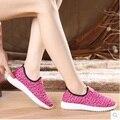Zapatos de mujer moda mujer deporte al aire libre respirable zapatos de señora fresca de primavera y otoño se deslizan en paño zapatos sapatos