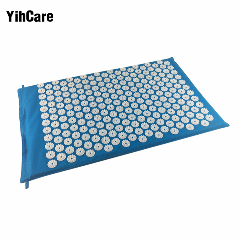 YihCare Body Acupuncture Massager Pad Mattress Pain Stress Relieve Shakti Acupressure Cushion Mat Back and Sciatic Pain Massage image