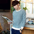 Preppy style autumn dress fashion color blocked striped pullover men knitted sweater pull homme men's clothing size m-5xl TTS15