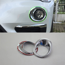 Car Accessories Exterior Decoration ABS Chrome Front Fog Lamp Light Cover Trim For BMW X1 2016 Car Styling accessories! car accessories exterior decoration abs chrome rear fog light fog lamp cover trim for kia k2 rio 2017 car styling