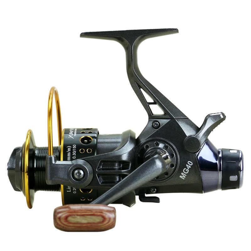 2018 Новый Двойной Тормоз Дизайн Рыболовная катушка супер сильный Фидер для карпфишинга вращающееся колесо тип рыболовные катушки