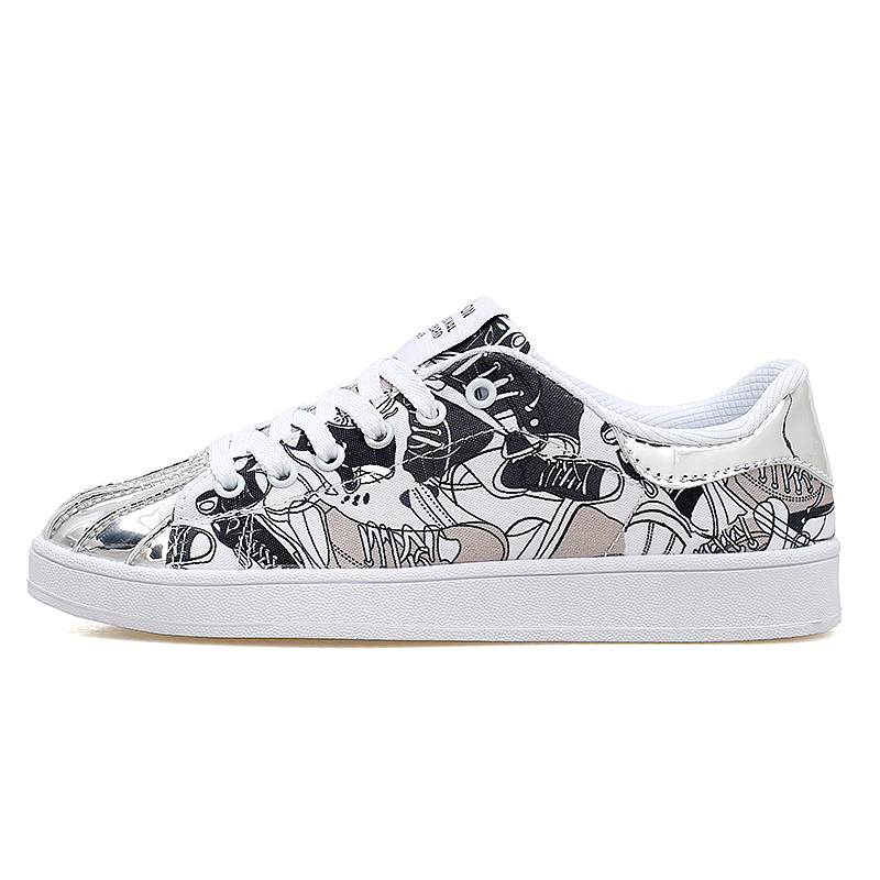 Men women Skateboarding Shoes lover printed breathable canvas Nice Road Trends all color ...
