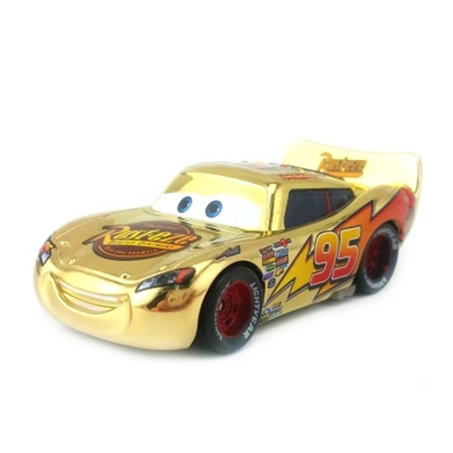 Disney Hot Sale Pixar Cars Lightning Mcqueen Metallic Finish Chrome
