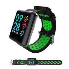 2019 nuevo reloj inteligente Monitor de ritmo cardíaco IP67 Color impermeable pantalla rastreador de Fitness banda Bluetooth 4,0 reloj deportivo(China)