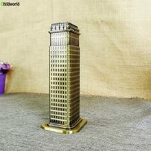 Flatiron Building Modern Model Creative Decor Metal retro home decoration accessories Fuller Figurine ornament souvenir