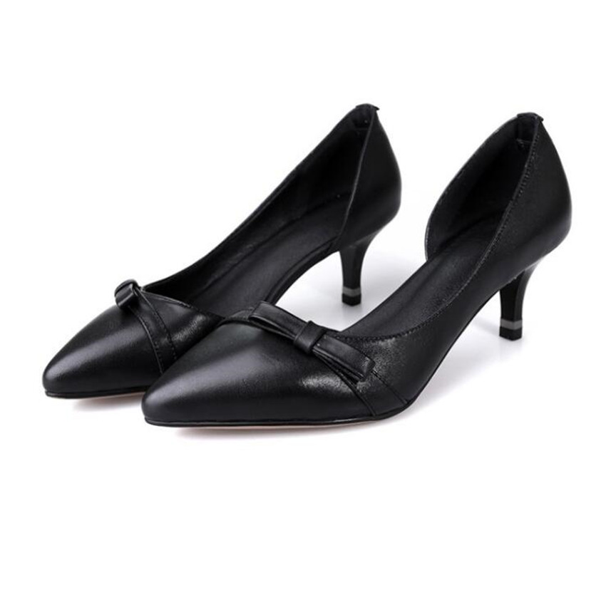 ZOUDKY The Korean version Bow tie single shoe female naked wedding shoes ...