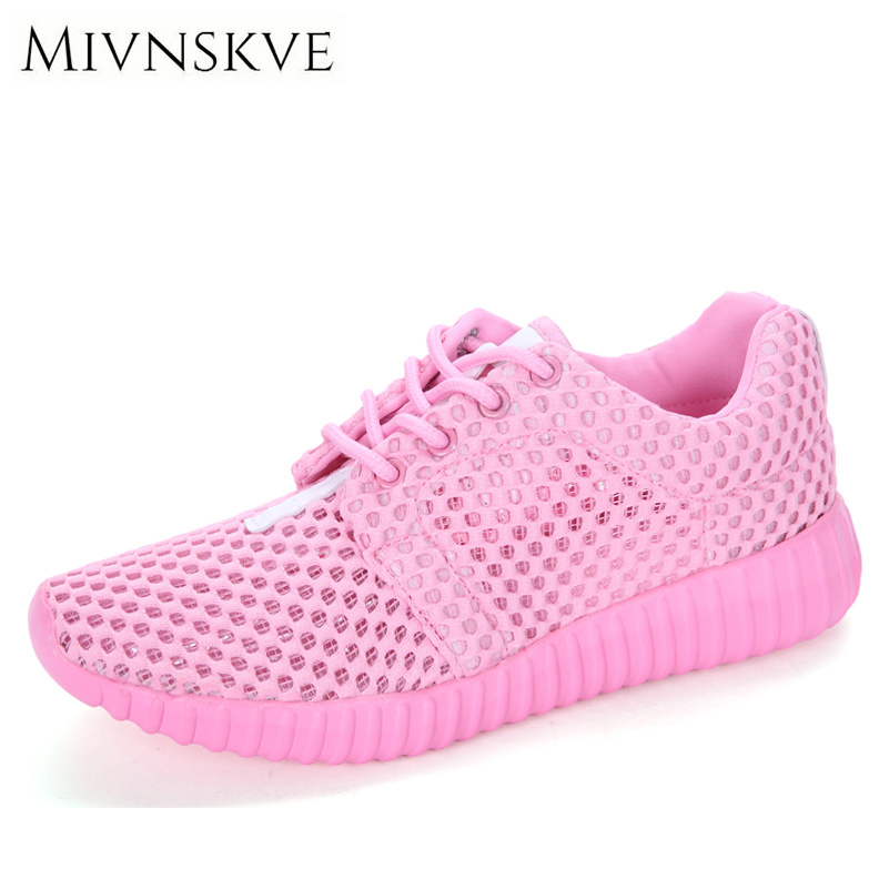 MIVNSKVE 2017 New Summer Outdoor Ladies Shoes Woman Breathable Flat Mesh Shoes Fashion Light Comfortable Women Casual Shoes 10pcs 5x10x4mm metal sealed shielded deep groove ball bearing mr105zz