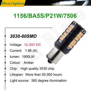 Image 2 - 2X LED Car Bulb Canbus No Error Hyper Flash Turn Signal Light Amber Orange 1156 BA15S P21W BAU15S PY21W T20 7440 W21W WY21W 3156