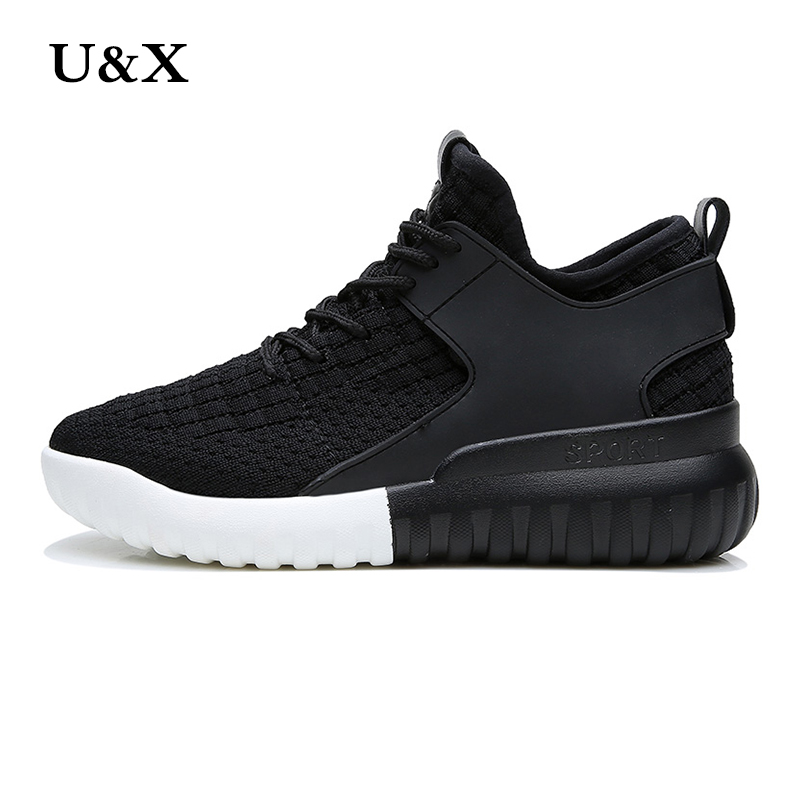 U&X Women's air net casual shoes PU solid flat and comfortable breathable superstar coach walking fashion shoes size 36-39