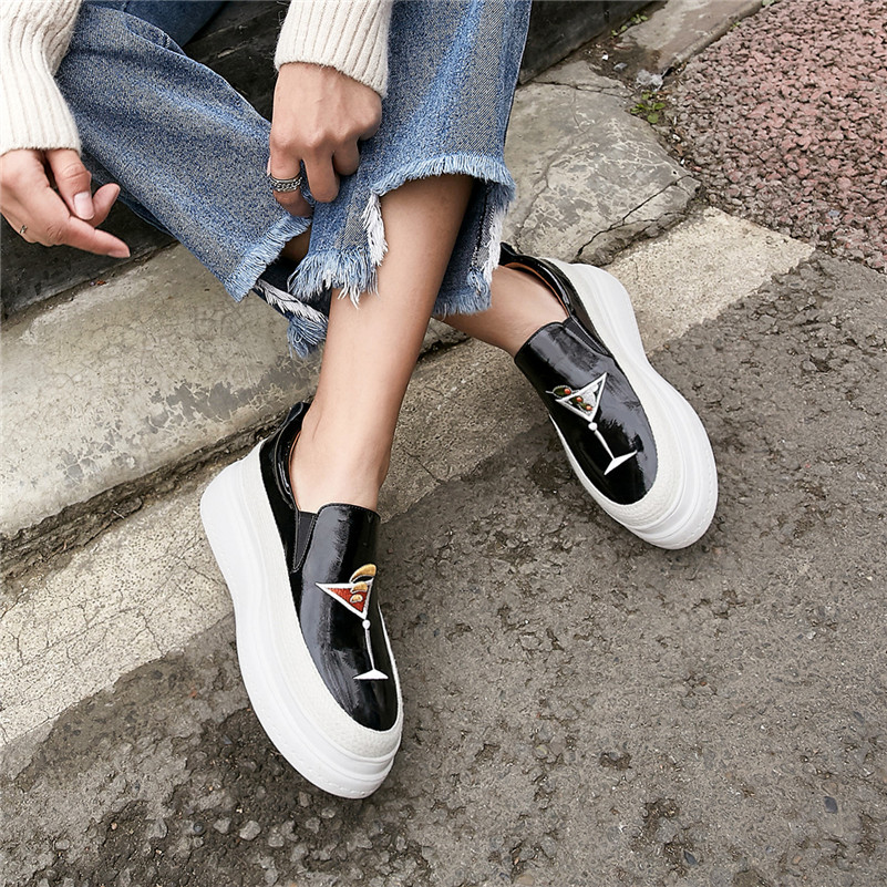 Ocasionales La Nueva Fedonas Primavera Moda Zapatos Mujeres Slip Verano Planos Plana Mujer Bordar Las Elegante on De Negro Plataforma naranja Deportivos w08v0YX