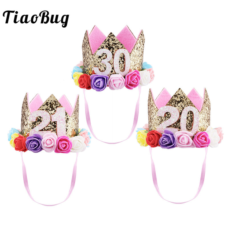 30th Birthday Party Ideas Detail Feedback Questions About TiaoBug Women Men Adult Sparkly Flowers Style Princess Tiara Crown 20th 21st