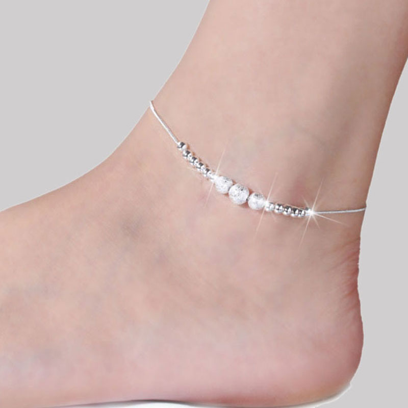 Anklets For Women Ankle Bracelet Chaine Foot Jewelry Barefoot Sandals Leg Silver plated Anklet Pulseras Tobilleras Cheville JL00