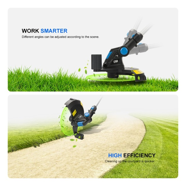 20V Electric Grass Trimmer Cordless Lawn Mower 12in Auto Release String Cutter Pruning Garden Tools 2000mAh Li-ion By PROSTORMER 6