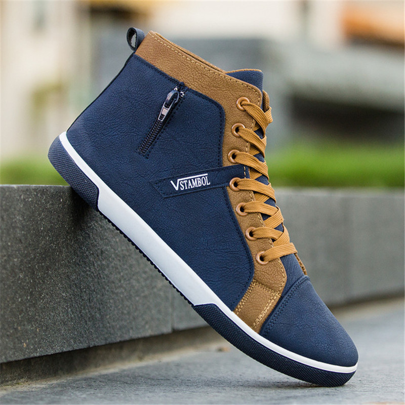 Men's Vulcanize Shoes Men Spring Autumn Top Fashion Sneakers Lace-up High Style Solid Colors Man ShoesMen Canvas Shoes Spring