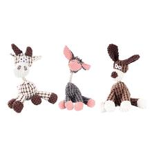 Cute Cartoon Donkey Dog Toy Sound Biting Plush Molar Soft And Wear Resistant Fabric Safety Environmental Protection