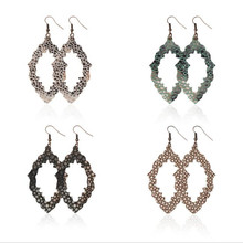 Snake skin Leather Drop Earrings For Women Trendy Water Pu Fashion Statement Jewelry Gifts Accessories
