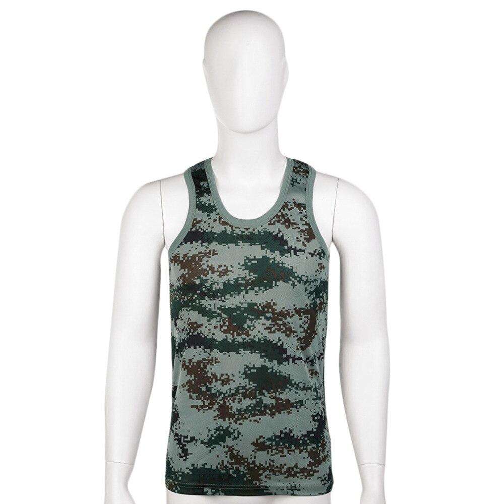 Adaptable Mannen Militaire Stijl Mannen Vest Camouflage Tank Top Stretchy Wilde Strakke Gym Sport Skinny Bodybuilding Gratis Verzending Goed Voor Energie En De Milt