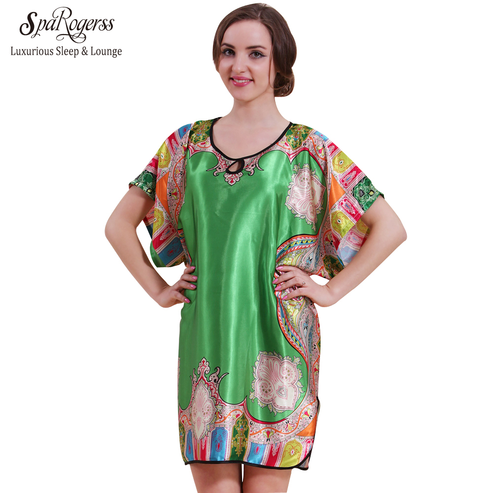 Original Women Nightgown Big Size Summer Fashion 2018 Top Faux Silk ...