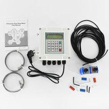 Ultrasonic Flowmeter Wall-mounted Digital Flow Meter TUF-2000SW TM-1 Transducer DN50-700mm tuf 2000m ultrasonic fuel oil flow meter dn50 1000mm