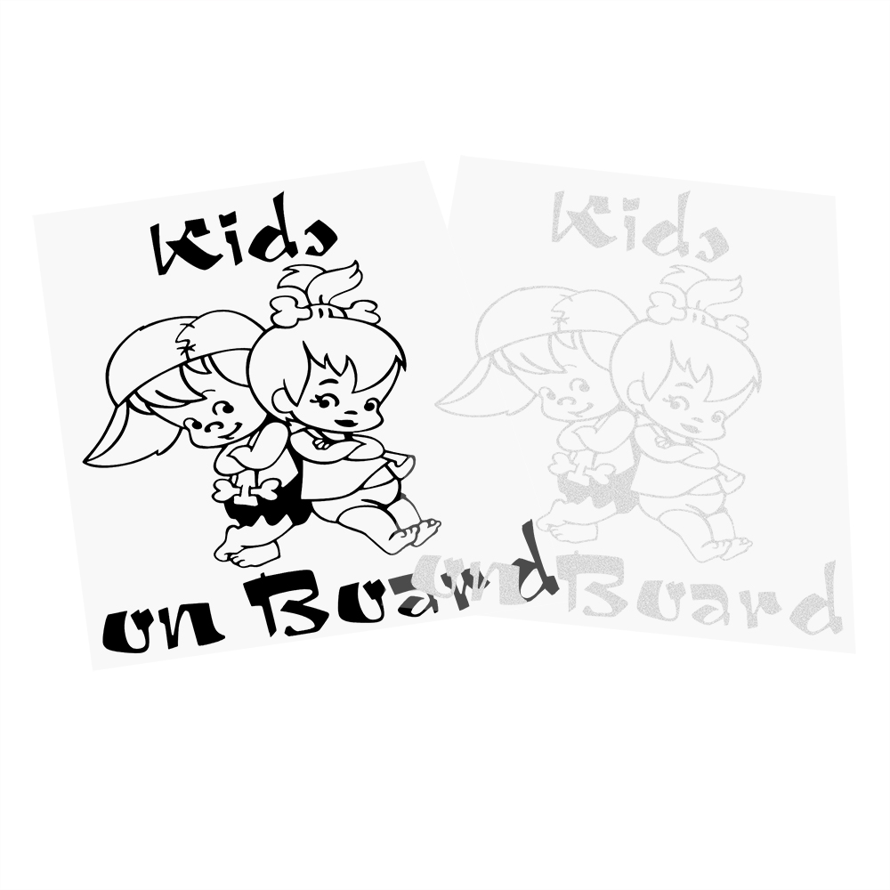 Car Stickers Cartoon Warning Decal Kids on Board Car-covers Accessories Funny Decoration Sticker Cute Car Styling