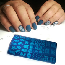 1pcs 12*6cm 32style Rectangle Nail Stamping Template Catch Dream Flowers Patterns DIY Designs Manicure Stamp Plate