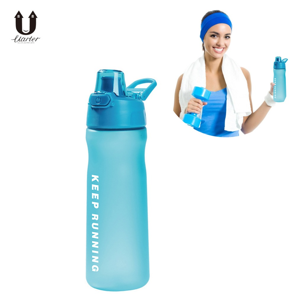 Uarter 500mL Flip-open Cover Unisex Water Bottle High quality Matte Sports Water Bottle Plastic Outdoor Water Bottle