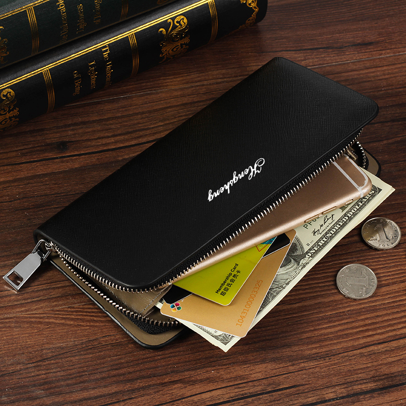 2018 Fashion Long Design leather Wallets Mens black White Zipper credit Cards Holder Business Man Purses Male Clutch phone Wa inflatable christmas ball for photo custom new year decoration pvc christmas festival inflatable snow globe for display