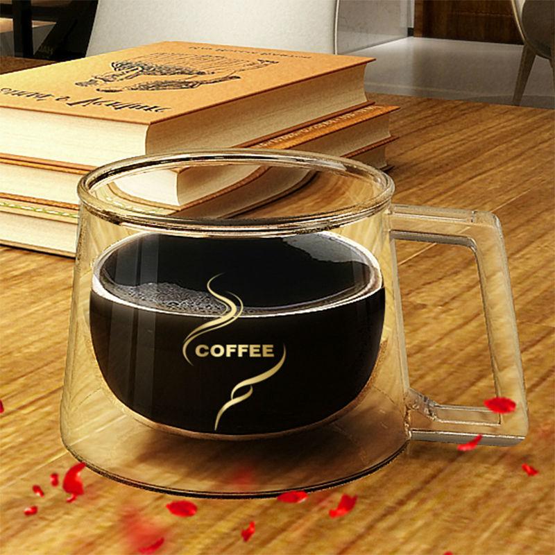 Fashion High Quality double wall mug office mugs heat insulation double coffee mug coffee cup in Mugs from Home Garden