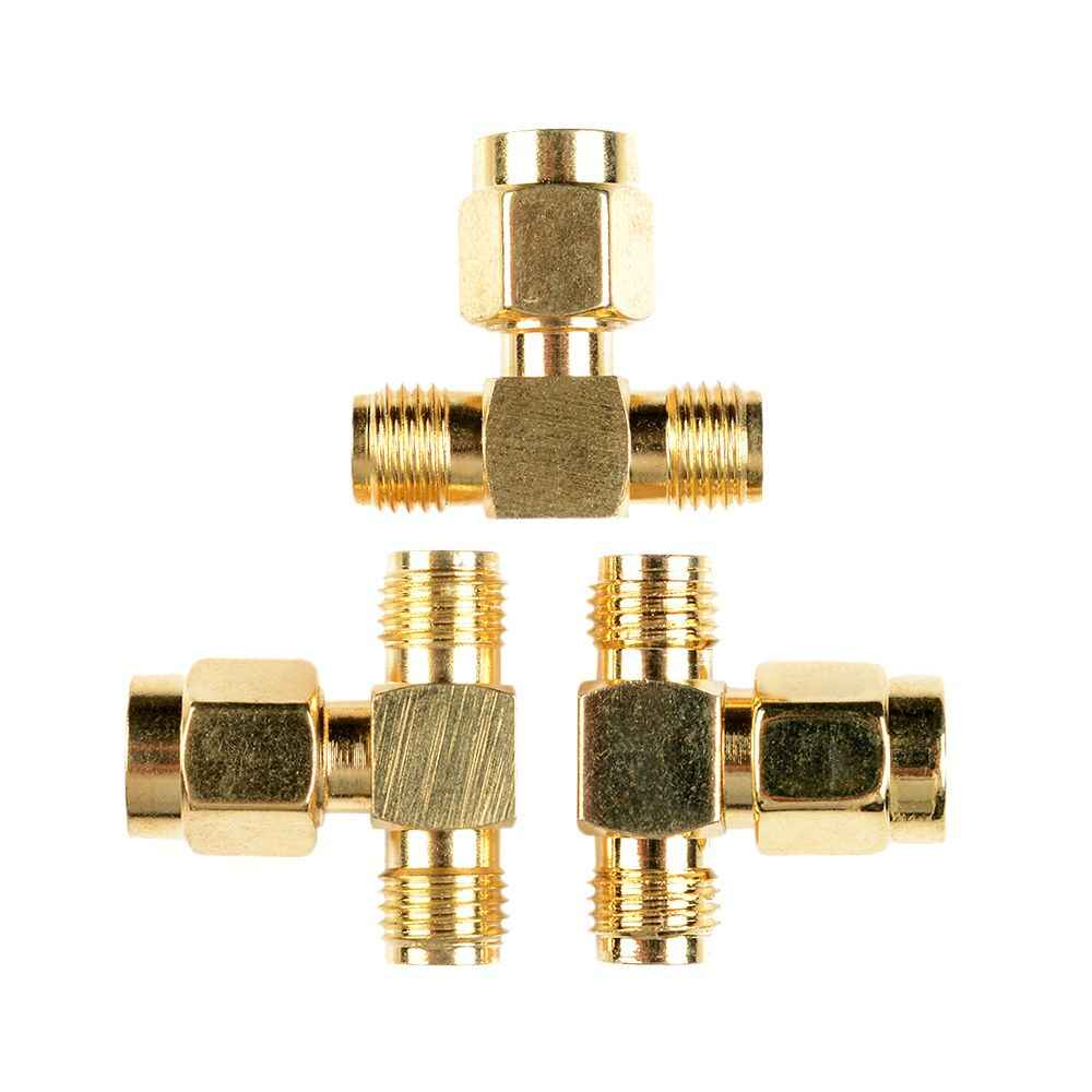 SMA Male to Two SMA Female Triple T RF Adapter Connector 3 Way Splitter LW SZUS