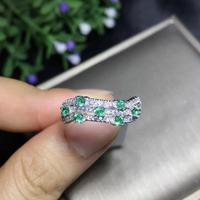 Light and luxurious design, many gemstone rings, thread rings, natural emerald, beautiful color. Precious gemstones are exclusiv