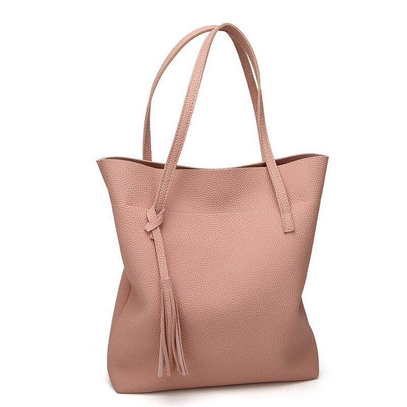DAUNAVIA Luxury Brand Tassel Bucket Bag Naiste pehme nahast käekott - Käekotid - Foto 2