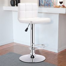 Swivel Bar Stool Bistro Chair White Black High Quality Modern Ergonomic Wear-resistant Breathable Metal Bar Chairs HW53843(China)