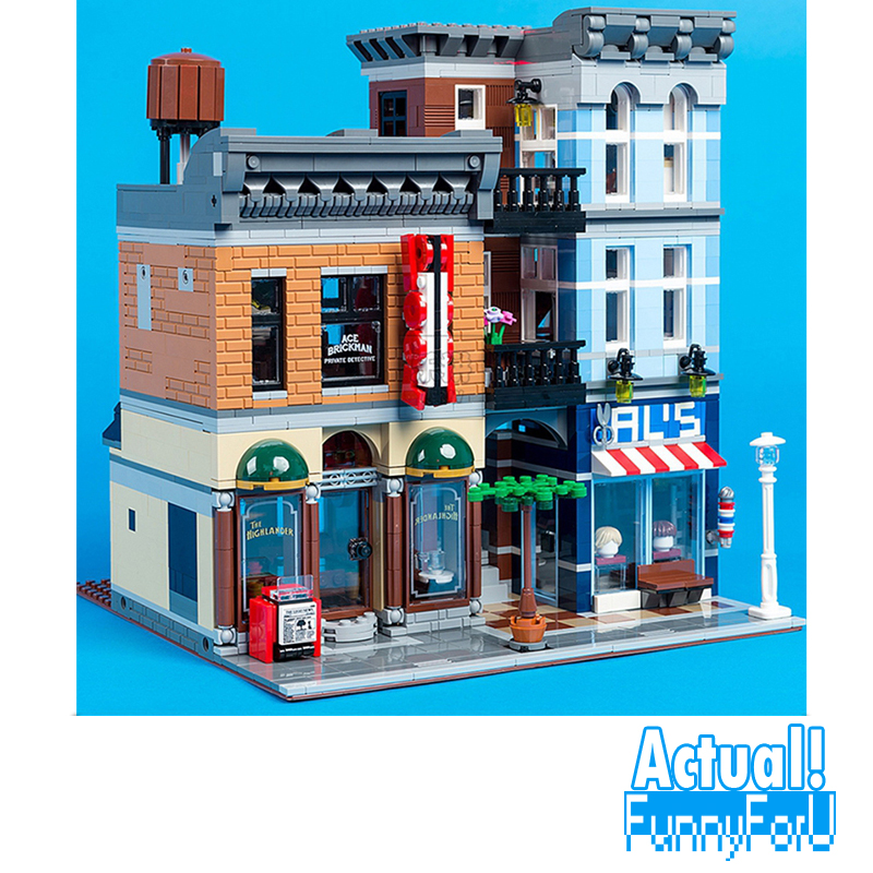 LEPIN 15011 Detective's Office Street View Creator Building Blocks Bricks Toys DIY For Kids Model Compatible with INGly a toy a dream lepin 15008 2462pcs city street creator green grocer model building kits blocks bricks compatible 10185
