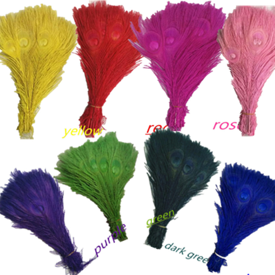 10p Natural Long Peacock Feathers centerpieces Cheap Bulk Centerpieces Peacock Feathers for