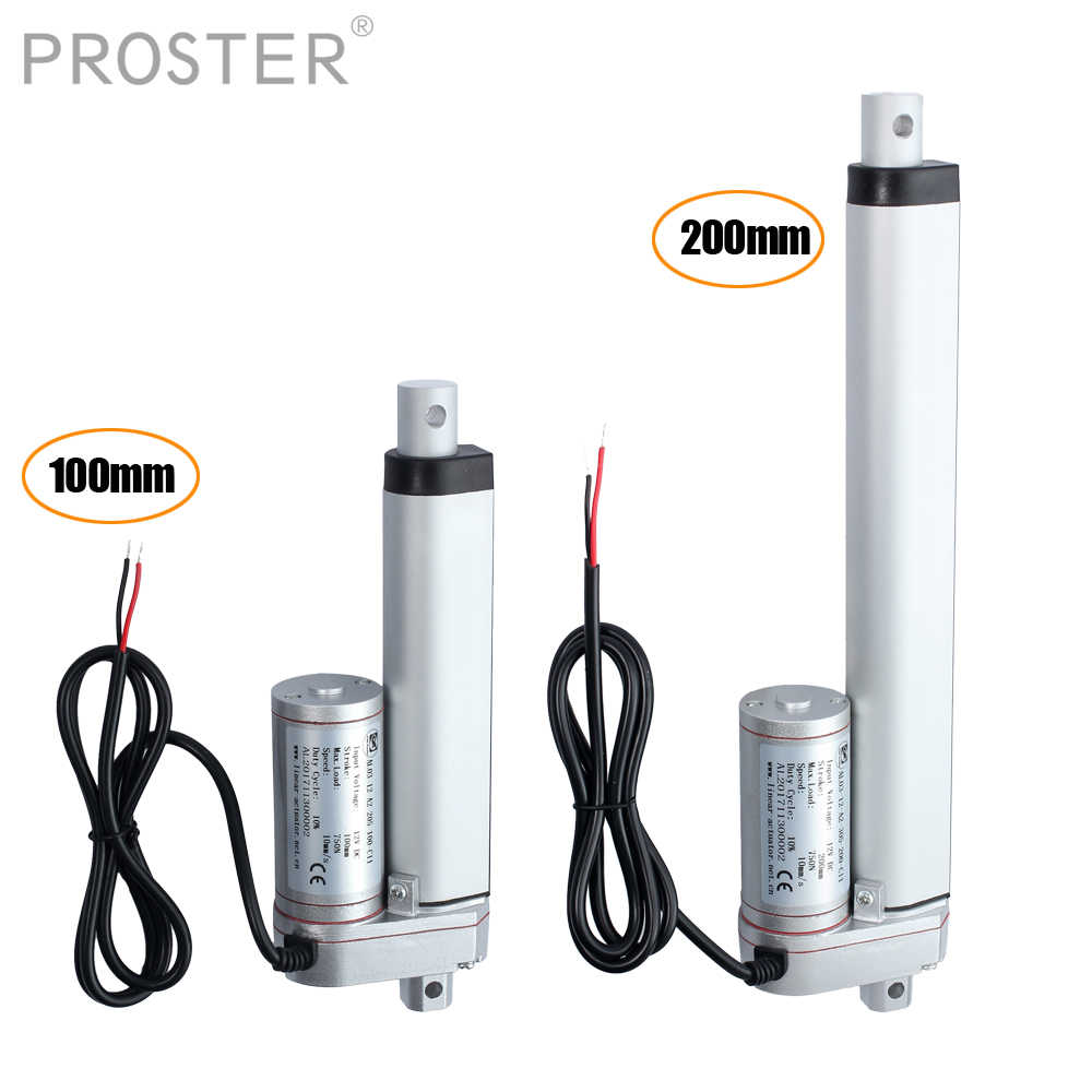 Proster for Motor atuador linear 200mm Linear Actuator DC 12V 750N Linear Actuator Maximum Push/Pull 140KG Max Electric Motor