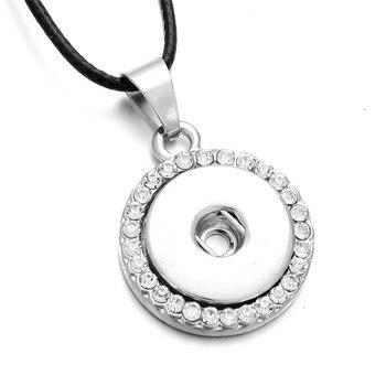 Nuevo colgante con broche, collar de abalorios de cristal apto para bricolaje botones a presión de 18mm, joyería para mujer, regalo de Navidad