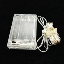 Медный провод Гирлянды светодиодные Light 2 м/5 м/10 м теплый белый Батарея питание Водонепроницаемый Фея для Новогодние товары Свадебная вечеринка украшения