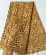 Real Gold very soft unique African tulle lace sewing mesh French fabric high quality You will like So Amazing hot Sale
