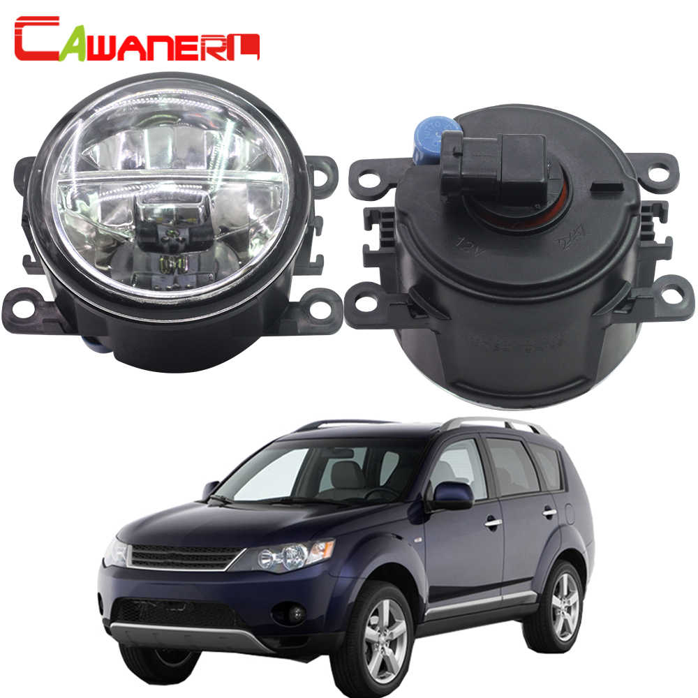 Cawanerl For Mitsubishi Outlander II CW_W Closed Off-Road Vehicle 2006-2012 Car LED Fog Light 4000LM DRL Daytime Running Light