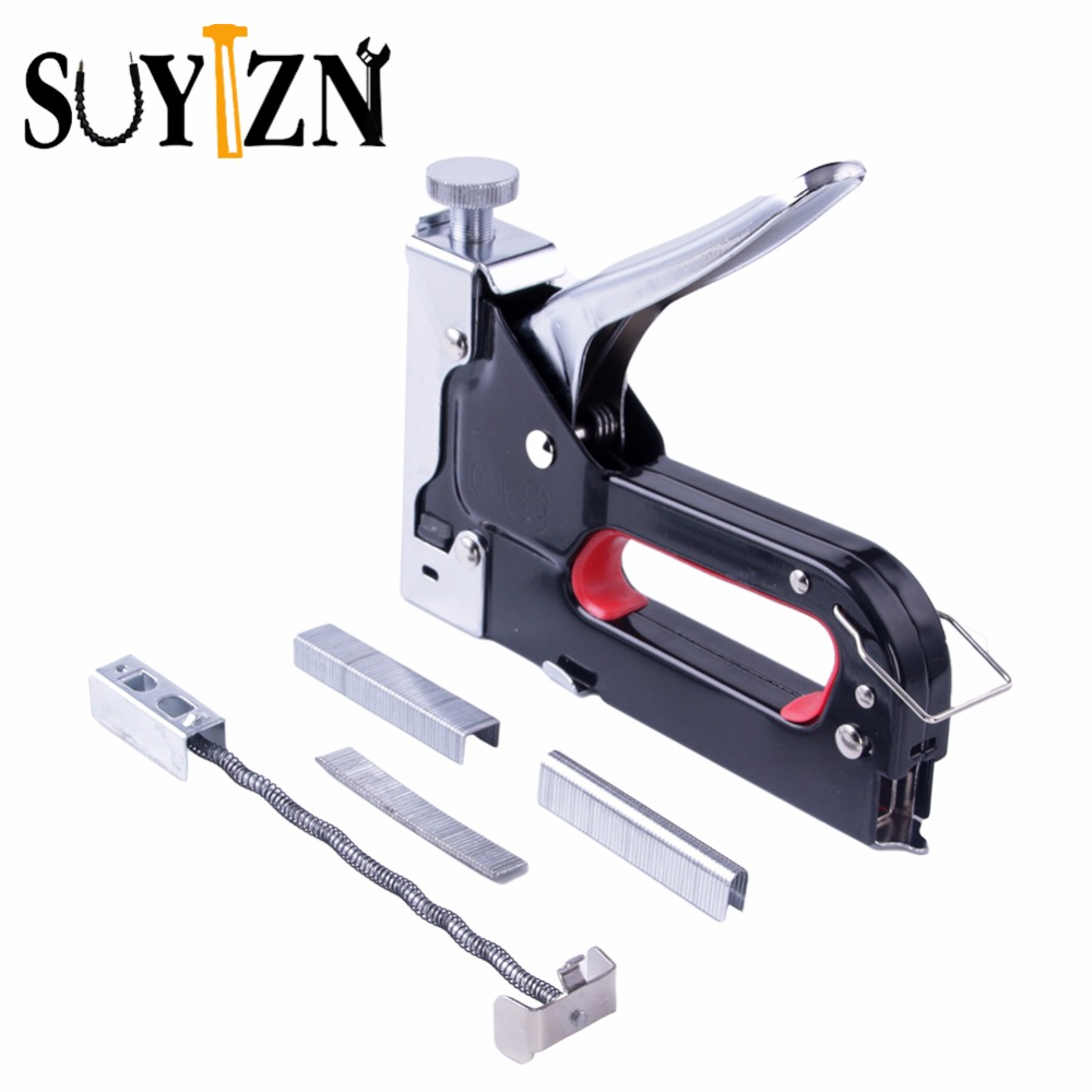 цена на Multitool Nail Staple Gun Furniture Stapler For Wood Door Upholstery Framing Rivet Gun Kit Nailers Riveter Tool Nietzange Z158-1