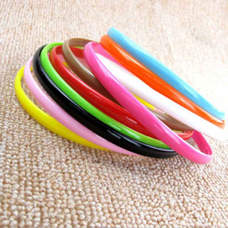 3 Pcslot LadiesGirlsKids Simple Style Hair Teeth candy color Headbands Plastic hairbands