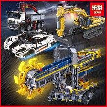 Лепин 20005 20015 20007 23006 дизайн серии новый автомобиль грузовик строительные блоки кирпичи LegoINGlys 42055 8043 42043 игрушки подарок на день рождения