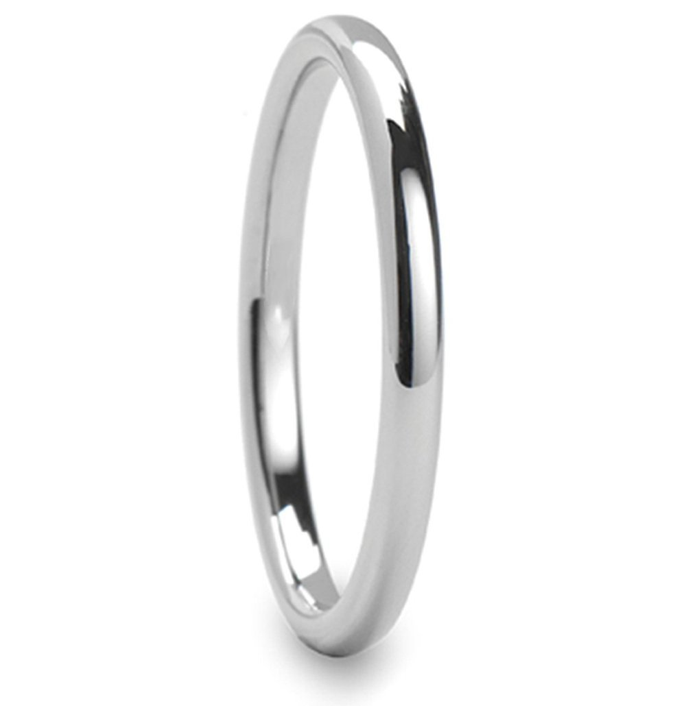 3mm Slim Silver Titanium Ring Unisex High Polish  Dome Band Women's Ultrathin Titanium Wedding Ring Bandfort Fit From  Reliable