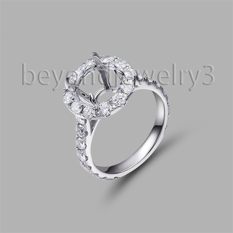 Full Cut SI Clarity Diamond Semi Mount Round 9.5mm Cut Setting Ring ...