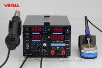 4 шт. 853D 110 В 220 В USB фена паяльная станция паяльник + Термофен + Питание сварки Ремонт паяльной станции