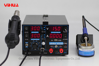 4PCS 853D 110V 220V USB Hot Air Gun Rework Station Soldering iron + Heat Gun +Power Supply Welding Repair Solder Station