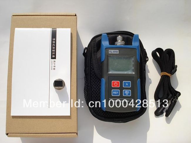 TL510C Portable Optical Power Meter With FC SC ST Connector -50~+26 dBm Fiber Meter 100% Original With package s2 shovels ray bead 96w led flashing police strobe intimidator windshield dash light