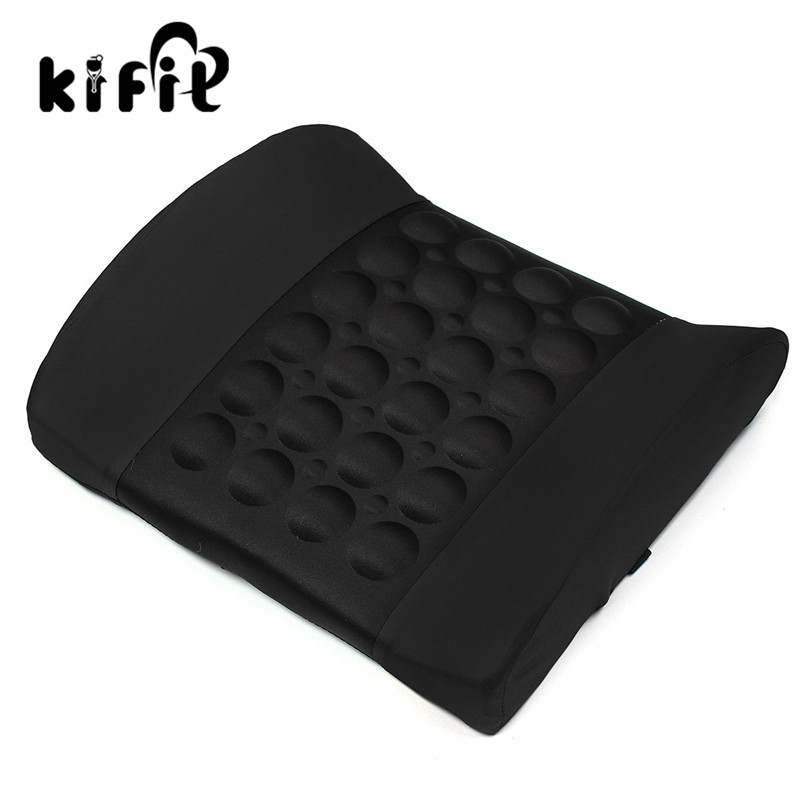 KIFIT Comfortable 4 Colors Car Back Lumbar Posture Support Electrical Massage Cushion Pillow 12V Health Care Tool car electric massage cushion lumbar posture support cushion pillow red black